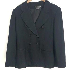 Liz Claiborne black button up blouse size 10